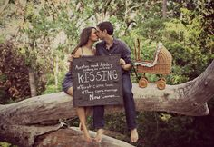 They have done it again! My friend Ashley and her husband Austin always come up the cutest announcement photos ever. This one is definitely one to use! Adorable