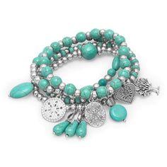 Vintage Charm Bracelet, Silver Charm Bracelet, Bracelet Set, Charm Jewelry, Silver Charms, Sterling Silver Bracelets, Beaded Jewelry, Silver Jewelry, Silver Ring