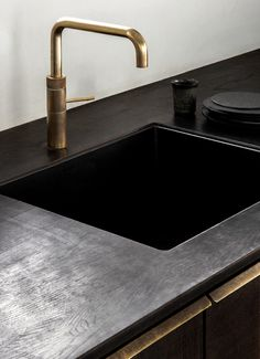 Photo 4 of 11 in A Look at Jonas Bjerre-Poulsen's Luxuriously Minimalist Kitchen - Dwell Modern Kitchen Cabinets, Kitchen Nook, Wood Cabinets, Kitchen Interior, Kitchen Design, Kitchen Reno, Kitchen Decor Themes, Decorating Kitchen, Kitchen Ideas