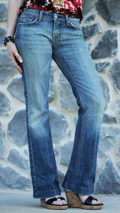 7 For All Mankind Flynt Jeans Pre-Worn Designer Jeans