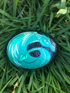 Dragon Egg Painted Garden Rock  by DragonsMoon on Etsy, $25.00