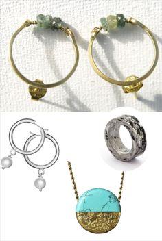 Studs, Crystals, Neck Chain, Silver, Bracelet, Schmuck, Presents