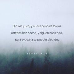 Dios es justo y nunca olvidará lo que ustedes han hecho y siguen haciendo para ayudar a su pueblo elegido. De esa manera ustedes también demuestran que aman a Dios. Hebreos 6:10 @youversion @ibvcp #buenosdias #islademargarita #venezuela