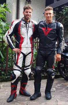 Motorcycle Suit, Motorcycle Leather, Leather Men, Leather Jacket, Jacket Men, Sexy Men, Sexy Guys, Ducati, Bad Boys