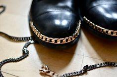 DIY Chain Shoe Trim.