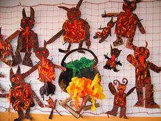 mikulas cert a andel  : peklo certi 150x150 Peklo Christmas Time, Christmas Crafts, Kindergarten, Carnival, Preschool, Halloween, Winter, Pictures, Painting