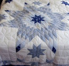 SOLD Thanks to the new owner! TWO JC PENNEY QUILTS FULL QUEEN BLUE WHITE DRESDEN STAR NEW  http://r.ebay.com/1oJwDa