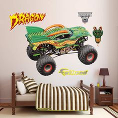 Fathead Monster Jam Dragon Graphic - Wall Sticker Outlet
