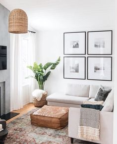 75 modern apartment decoration for living room 55 - Home Design Ideas . - Scandinavian Design Trends - Have Best Home Decor ! Living Room Interior, Home Living Room, Living Room Designs, Living Area, Cozy Living, Small Living, Living Room Pouf, Living Room Decor With Plants, Living Room Artwork