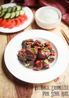 Meanwhile the vietnamese Carmelized Pork Pot - Instant pot - Vietnamese Pork Rib Recipes, Asian Recipes, Ethnic Recipes, Vietnamese Recipes, Vietnamese Food, Meatloaf Recipes, Pork Spare Ribs, Pork Ribs, Instant Pot Pressure Cooker
