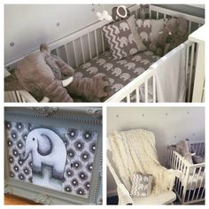 Neutral elephant baby nursery, baby has now been born and it's a girl!