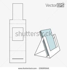 Triangle folder display - stock vector