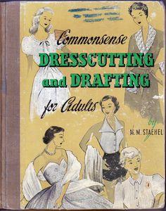 Vintage 1954 Sewing Pattern Drafting Book