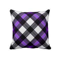 Purple Plaid American MoJo Pillow