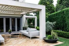 This Vaucluse, Sydney garden may be young but it& contemporary meets classic formality mix is . Small Backyard Pools, Swimming Pools Backyard, Garden Nook, Garden Spaces, Outdoor Rooms, Outdoor Living, Outdoor Decor, Landscape Design, Garden Design