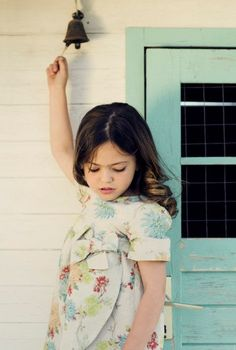 Girls Dress Children Clothing Floral linen dress by PetiteBellaaa