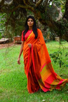 Wings Of Spring . Hand Woven . Handloom . Saree