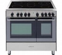Kenwood Gas Range Cooker - Stainless Steel & Black - Love it! Electric Range Cookers, Dual Fuel Range Cookers, Electric Cooker, Country Kitchen, Kitchen Dining, New Homes, Kitchen Appliances, Interior Design