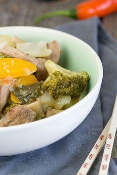Rundvleescurry met groenten