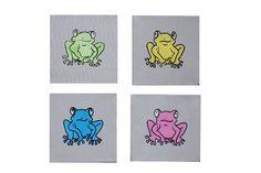 Geschenkidee - kreative Wandgestaltung mit Frosch  http://de.dawanda.com/product/76579195-acrylbild-frosch