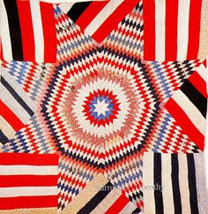 Pieced Quilt Star Of Bethlehem 1900 Pennsylvania by SurrendrDorothy, via Flickr