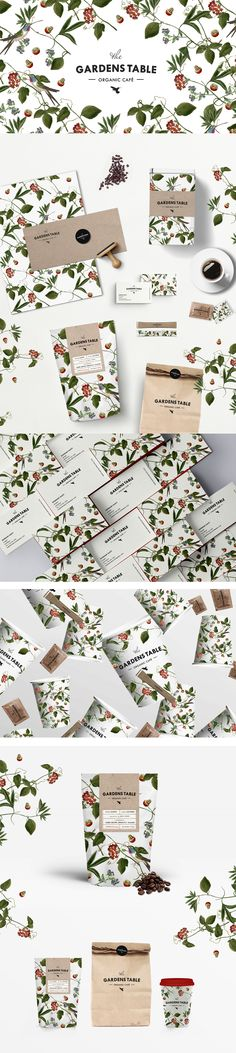 The GARDENS TABLE organic café on Behance by Judit Besze. Very pretty packaging PD