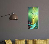 Ywona Wanduhr 33x67cm Die dekorative Art, die Zeit anzuzeigen! Unsere Wanduhren sind eine Kombination aus dekorativen Druck und liebevoller Handarbeit. Die bedruckten Paneele werden mit Pinsel und Farbe zu außergewöhnlichen Einzelstücken finalisiert. Wählen Sie zwischen den verschiedenen Druckdesigns und lassen Sie ihr persönliches Einzelstück für Sie fertigen.