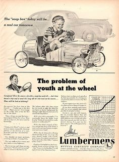 1940 Lumbermens Insurance Soap Box Original Print Ad Large Single Ad - Between 10 x 13 to 11 x 14 inches, suitable for framing.