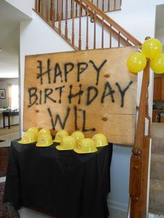 Not only is this the theme i was looking for but Wil's name is spelled correctly!!! Construction Party #construction #party