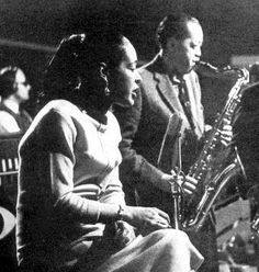The Prez and Lady aka Lester Young and Billie Holiday!