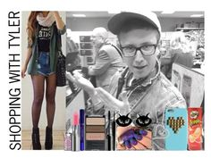 """Shopping with Tyler"" by nour-alhouda ❤ liked on Polyvore"