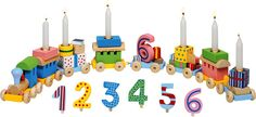 Wooden Birthday Train Party / Table Décor, Perfect Gift for Any Child Birthday Table, Third Birthday, Birthday Candles, Happy Birthday, Birthday Parties, Traditions D'anniversaire, Birthday Traditions, Candles Online, Gift Ideas