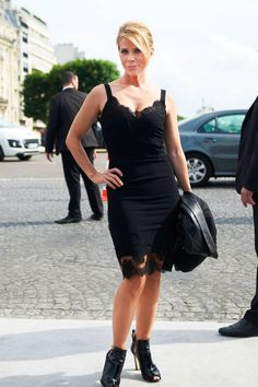 Street Chic: Amazing street style at Paris couture on actress Cheryl Hines