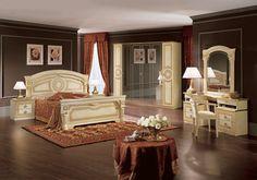 Camel Aida Ivory Italian Bedroom Set with 6 Door Wardrobe - CFS Furniture UK Cheap Bedroom Furniture Sets, Classic Bedroom Furniture, Childrens Bedroom Furniture, Modern Bedroom, Italian Bedroom Sets, Black Bedroom Sets, Kids Bedroom Sets, European Decor, Bedding Sets