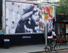 Street artist - Street art - Cut up collective - London [UK] - Cut up Collective reorders billboard advertisements and posters. They us the material and commercial messages and rearrange them to new images and messages about social unrest, rebellion and the city.