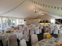 Hunton Park - Summer Marquee - Hundreds of Styling Ideas to make your wedding unique to you! Dress It Yourself in Hertford, Herts Hunton Park, Park Hotel, Wedding Venue Decorations, Wedding Venues, Table Decorations, Unique Weddings, Wedding Unique, Party Hire, Chair Covers