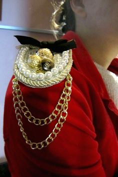 Epaulets Epaulettes gold silver Epaulettes chain by catlovershop