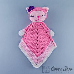 Ravelry: Kitty Lovey Security Blanket pattern by Carolina Guzman.