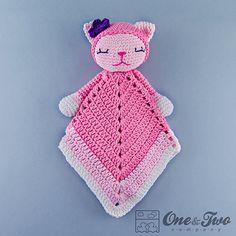 Ravelry: Kitty Lovey Security Blanket pattern by Carolina Guzman.