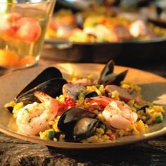 Paella--since I'm not crazy about seafood, I'm replacing it with chicken.  Should be good!!