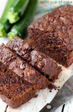 Chocolate Zucchini Bread - Your Cup of Cake