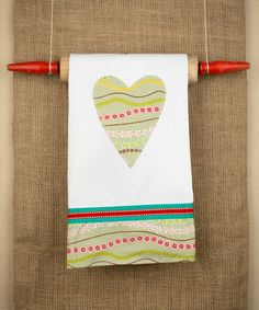 $15  Take a look at this Heart Tea Towel by Glory Haus on #zulily today!