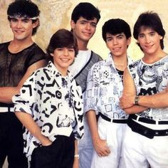 .Menudo!  Our version of One Direction in the 80's - I had their poster hanging up in my bedroom for years!!! Was in love with Ricky Martin. :)