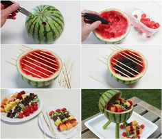 Watermelon Grill Centrepiece for a Summer Party !