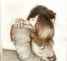 Couple drawing love