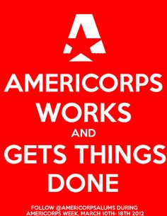 Happy AmeriCorps week, everybody!