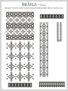 Cum recunoașteți modelele străvechi de pe IE față de cele inventate recent. Cum recunoști o IE cu modele străvechi românești, de UN KITSCH. | Lupul Dacic Embroidery Sampler, Folk Embroidery, Embroidery Stitches, Embroidery Patterns, Machine Embroidery, Cross Stitch Borders, Cross Stitching, Cross Stitch Patterns, Beading Patterns