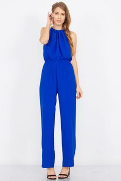 2686794b1e8b Cobalt Report Jumpsuit – Home Goods Galore Fashion Sewing
