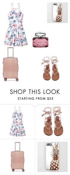 """""""Travelling solo"""" by polycollection ❤ liked on Polyvore featuring Hollister Co., CalPak and Gucci"""