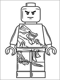 Ausmalbild Lego Ninjago Lloyd